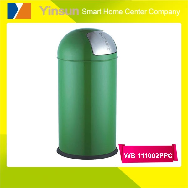 Round stainless steel waste bin container price