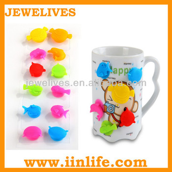 Silicone wedding suction cup wine glass marker