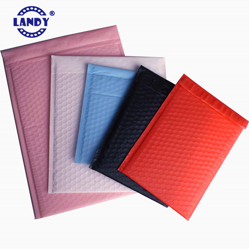 Assorted bubble mailers in bulk 12 colors plastic bubble mailing bags