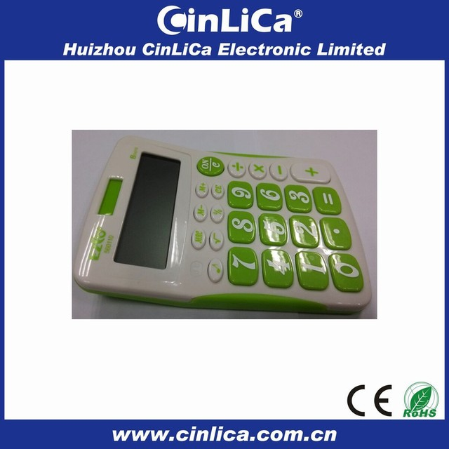 big buttons colorful desk calculator with key sound