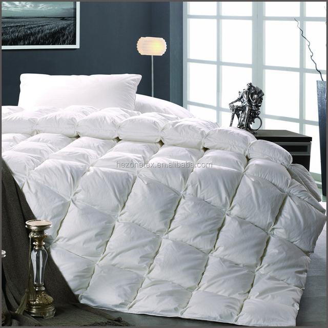 T233 100% cotton fabric fill white goose down duvet comforter quilt filling power 300