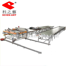 running table customized automatic textile screen printing machine