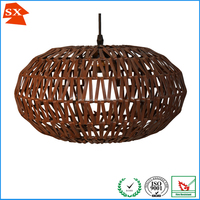 unique design impressive diy chocolate oval rattan pendant living room lamp