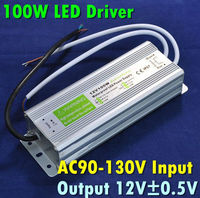 100W LED Power Supply, Input AC90-130V,Output DC12V LED Power Adapter, Suitable 12V LED Light