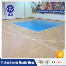 wood pattern pvc sports flooring cheap durable basketball court