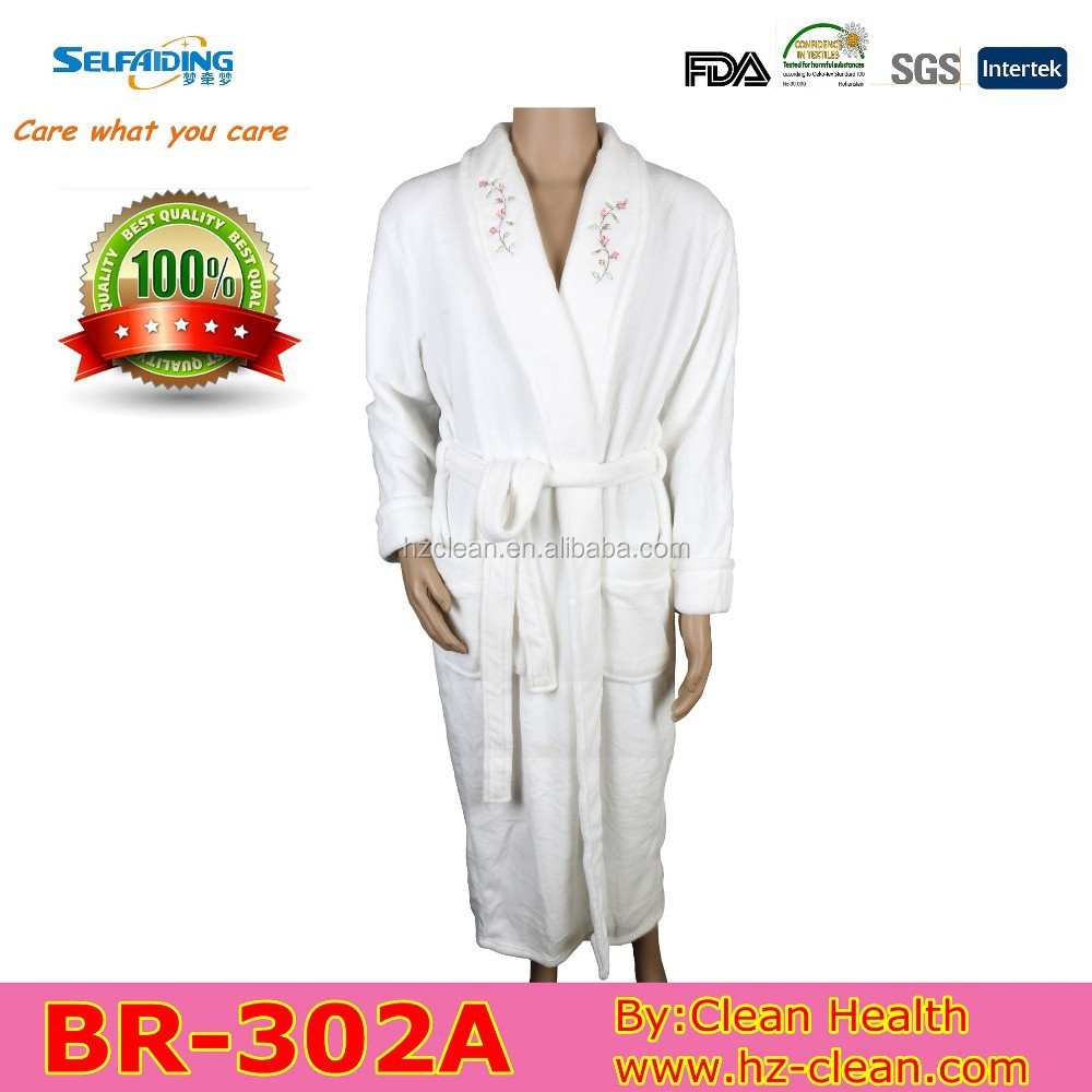 Cheap embroidered bath robe