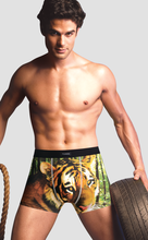 Solid printing mens cotton boxer briefs panties made for man