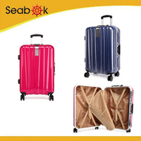Wholesale ABS PC trolley travel luggage with rotary wheels