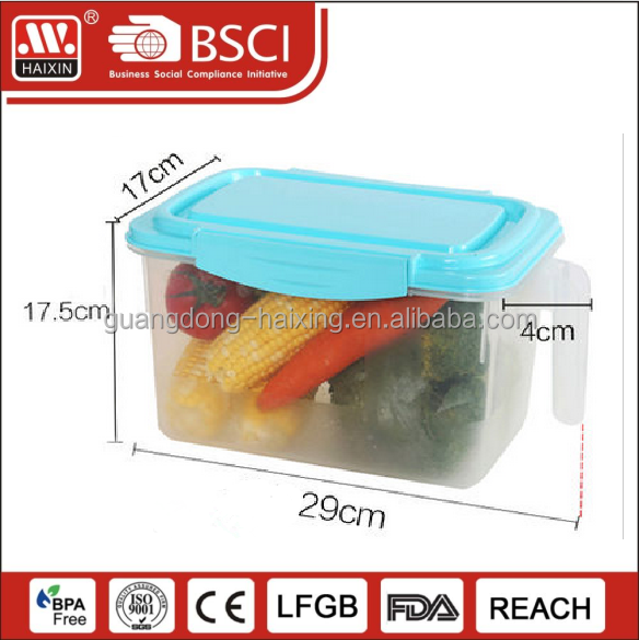 Good quality airtight food plastic rice cereal storage container with lid and handle in kitchen