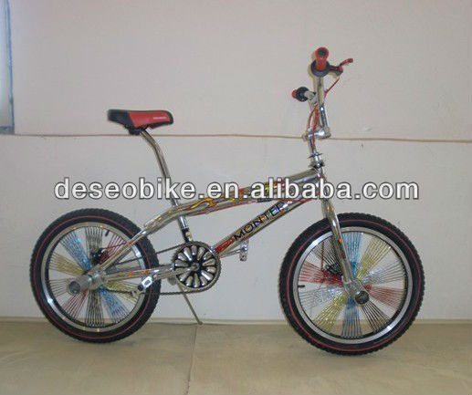 Lovely colorful BMX bike