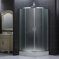 1.3-19mm CE & ISO9001 Curved Glass Shower