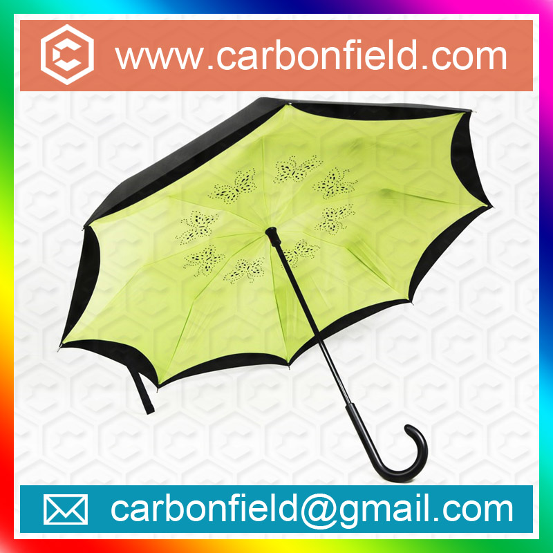 Kazbrella Umbrella Inverted Car-friendly Double Layer Upside Down Umbrella Innovative Product