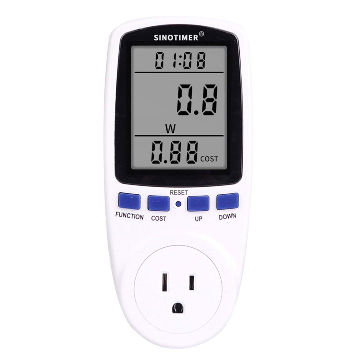 Power Meter Plug, Power Consumption Monitor Electricity Usage Monitor Analyzer Home Energy Consumption Analyzer