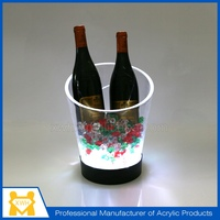 Factory direct wholesale clear led ice bucket/plastic ice bucket/acrylic ice bucket