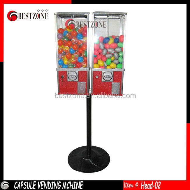 capsule toy and bouncing ball vending machine 2 heads