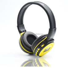 highest quality on-ear USB data cable type headset with mic and fm radio