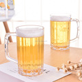 Clear Plastic Beer Mug with Handle