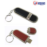 wholesale usb manufacturer 128gb usb flash drive leather