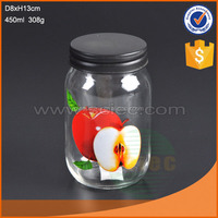 glass jar with apple picture