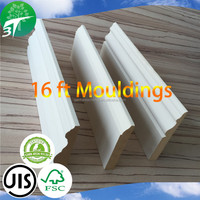 Finger Joint Wooden Moulding for interior decoration/wall art decor/Window&Door Mouldings/