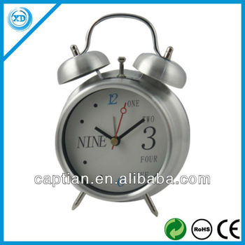 Twin-bell Metal Alarm Antique Table Clock