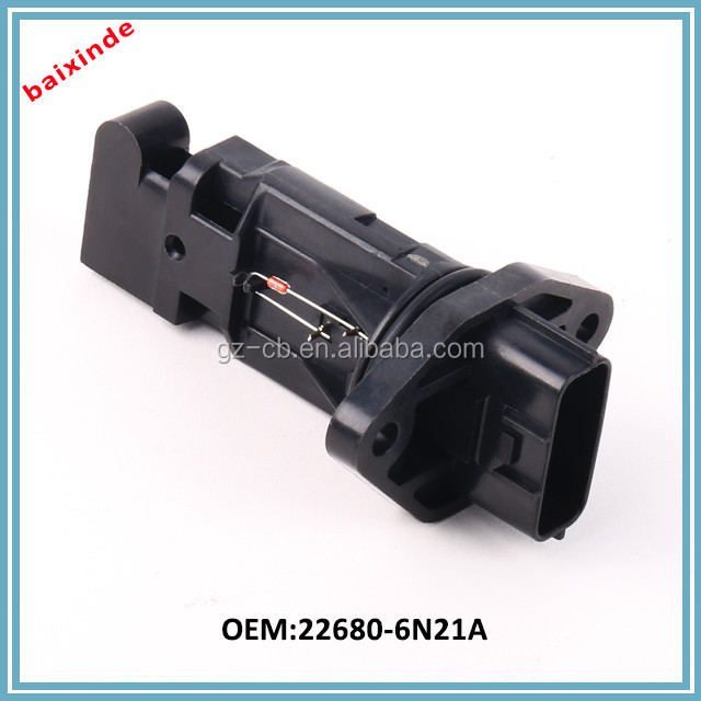 5Pins T30 QR25DE Air Flow Meter 22680-6N21A 22680-6N200 Mass Airflow Sensor For NISSANs