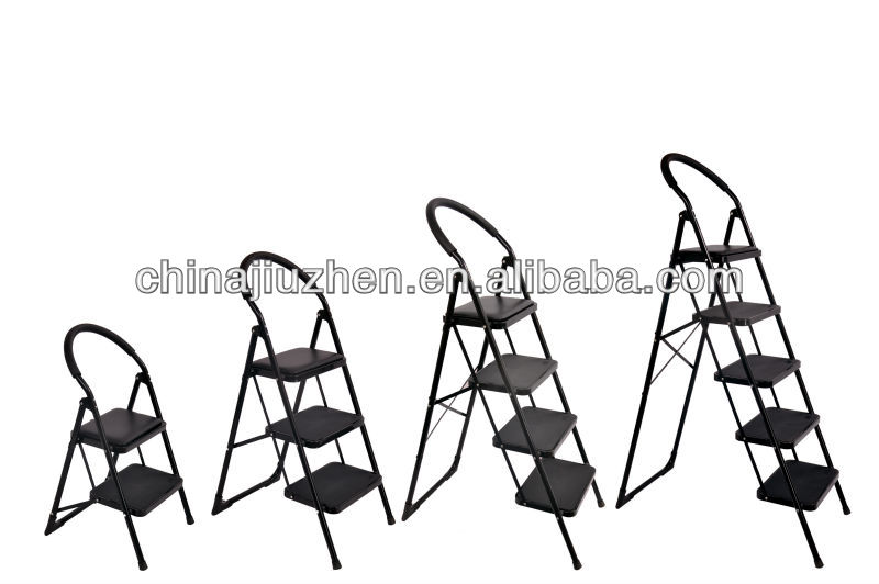 non-slip step, pu pedal steel folding ladders