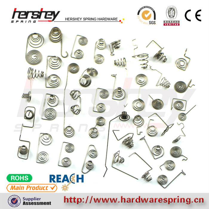 Custom high quality different types remote control battery spring manufacturer in China