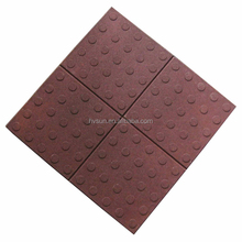 rubber tactile title flooring,blind tactile rubber tiles,Blind tracks brick Trade Assurance High quality