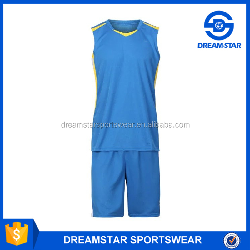 Basketball Jersey Uniform Design Lake Blue Made In China