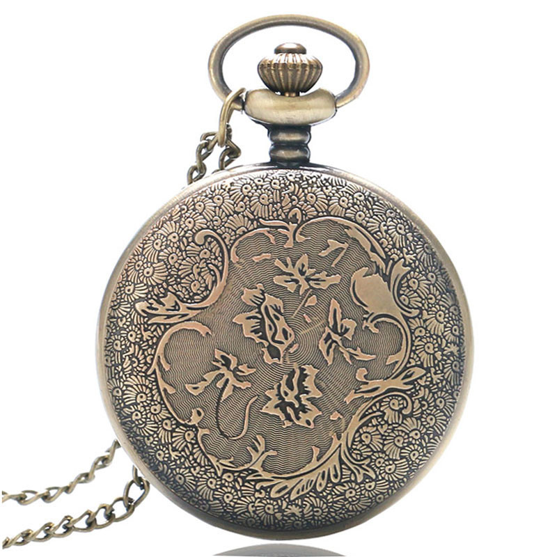 Antique Car Pocket Watch Classic Mustang Sedan Made In America Carving Pendant Chain Cool Men Clock Best Gifts for Boys Children (6)