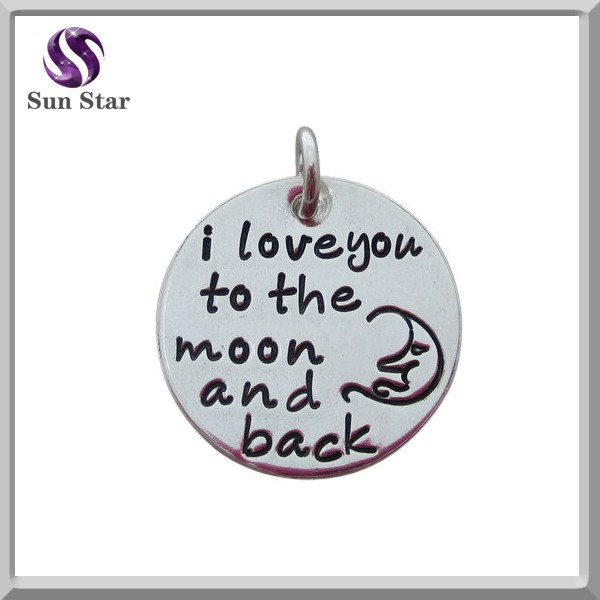 925 sterling silver love you to the moon and back charm