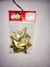 6cm plastic star decoration for Christmas Tree