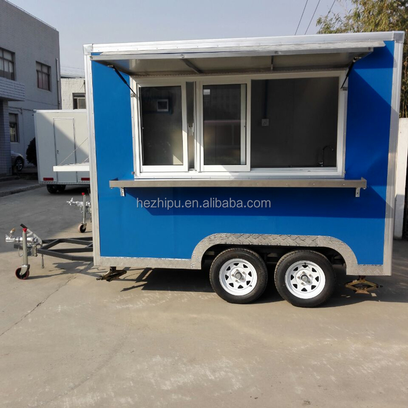 Outdoor Mobile <strong>Electricity</strong> Stainless Steel China Multifunction Outdoor Food Cart with Wheels / Fast Food Cart
