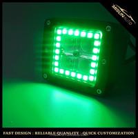 dc12V pair 3inch rgb led cube kits colored halo fog lights for trucks