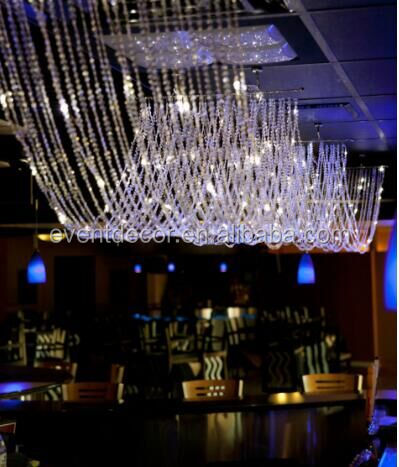 Clear Diamonds Ceiling Drape & Canopy For Decoration Wedding Top 2016 New