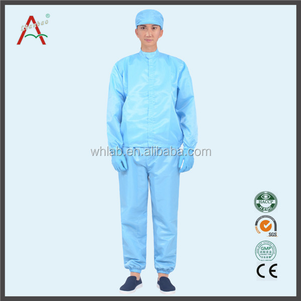 Cleanroom safety workwear cleaning smocks for food factory