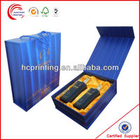 Fashion High Quality Folded Wine Gift Box And Bag