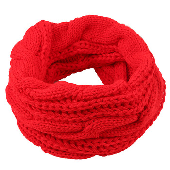 Cosum fashion neckerchief scarf women winter knit infinity red scarf