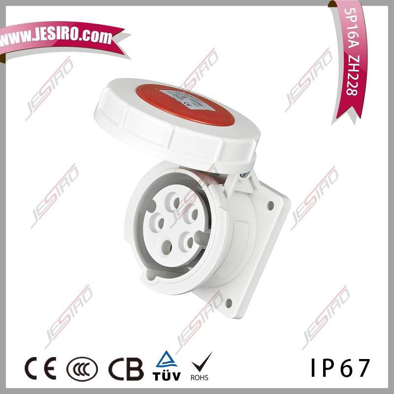 IP67 400V 5P industrial socket for waterproof electrical shock proof clothing