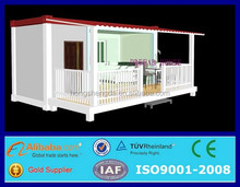 prefabricated european living 20ft shipping container house for rent