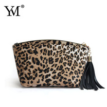 Clutch design leopard print makeup bag set