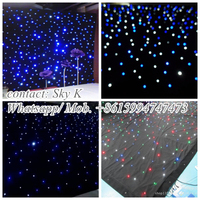 2015 hot gift items android/ipad wifi/bluetooth rgb led star curtain