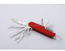 Foldable outdoor survival swiss multifunction army knife