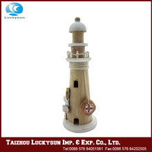 Wooden half hull lighthouse decor promotional tower handicraft