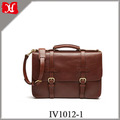 Vegetable Tanned Leather Men Business Travel Briefcase