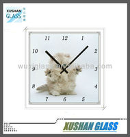 Square colorful promotional wall clock