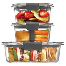 High Borosilicate Microwave Food Storage Containers Set With Vented Lid