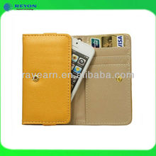 "hot selling credit card holder wallet case for iphone 5"" case leather"