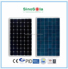 High efficiency solar panel for 230v grid electricity supply